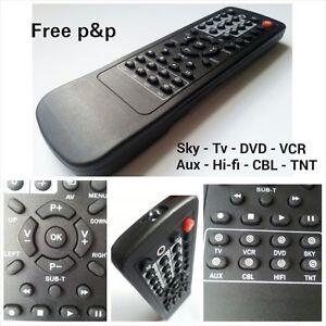 remote control universal replacement tv dvd cd sky samsung panasonictoshibasony ebay. Black Bedroom Furniture Sets. Home Design Ideas