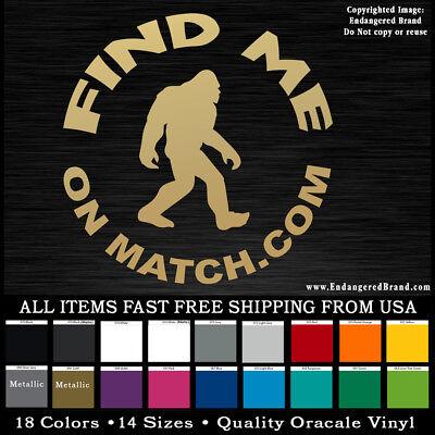 Sasquatch  Big Foot  Squatchin Love  Match Com Decal Sticker