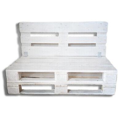 Divano Divanetto 2 posti in Pallet EPAL esterno/giardino -Made in Italy- Bianco
