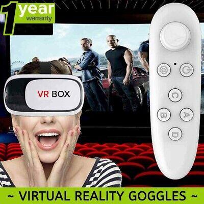 VR Box 2.0 Virtual Reality Headset Bluetooth Remote Control 3D 4.7-6.0 inch USA