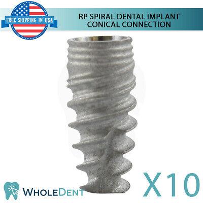 10x Dental Implant Rp Conical Connection Hex Titanium Sterile Nobel Active Sla