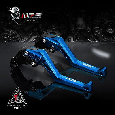 MZS Brake Clutch Levers For Kawasaki ZX636R/ZX6RR 2005-2006 Aluminum Dark Blue