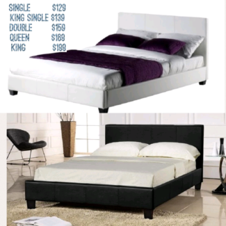 Brand New Pu Leather Beds In ALL SIZES