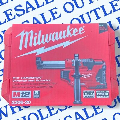 Milwaukee 2306-20 M12 Hammervac Universal Dust Extractor With Hard Case