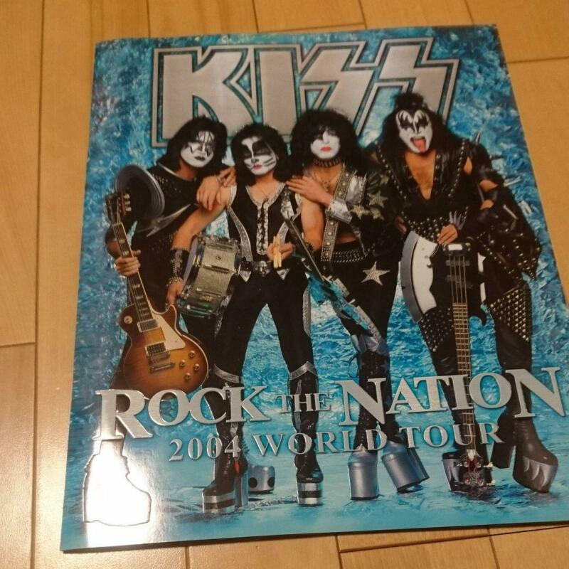 ROCK BAND KISS ROCK THE NATION 2004 World Tour Pamphlet Rare