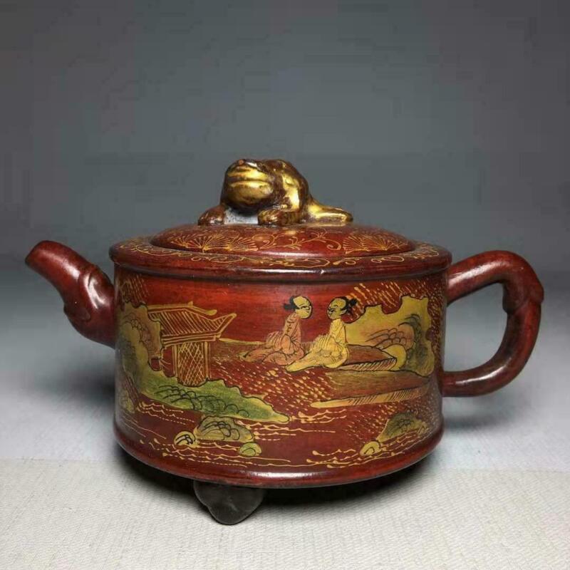 Chinese Yixing Zisha Handmade Exquisite Teapot WZS180