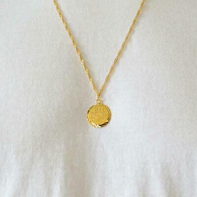 Babylonian Persian Coin Necklace Pendant Men & Women Necklaces 24k Gold - Gold Coin Necklace