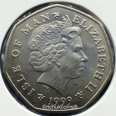 1999 IOM Xmas Currency Finish 50p Coin with AA die marks