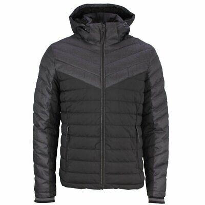 Superdry Jet Black Tweed Mix Fuji Jacket - M5000088A - 12A RRP £100