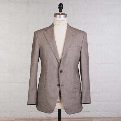 Hickey Freeman Suit Size 42 Mahogany Wool Summer Half Lined