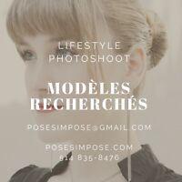 Modèles féminins pour photoshoot
