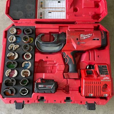 Milwaukee Force Logic M18 2779-22 750 Mcm Crimper Kit W16 Dies Case