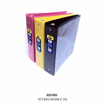 Lot Of 12 Pcs St3 Ring Binder 2 Storage Binders Mix Color Wholesale