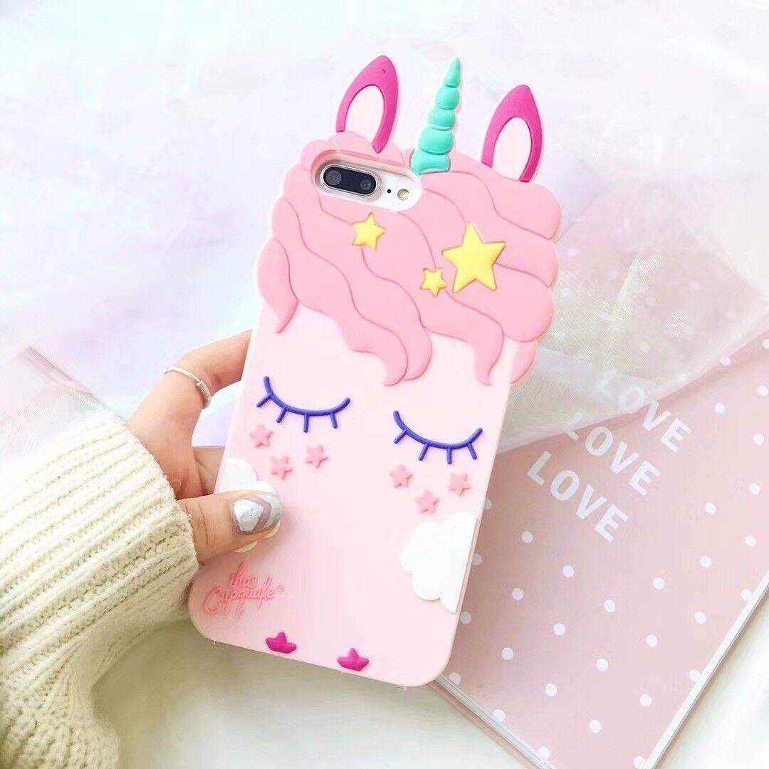 3D Unicorn Soft Silicone Case Cover For