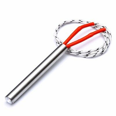 Red Two-wire 9mm x 80mm Heating Element Cartridge Heater AC 110V 250W N3
