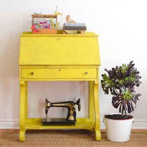 Yellow secretary desk- free delivery in GTA