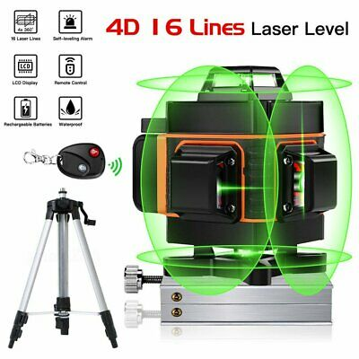 4d 360 16 Lines Green Laser Level Auto Self Leveling Rotary Cross Measure
