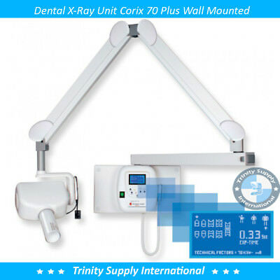 Corix 70 Plus Dental X-ray Wall Mounted Unit For Sensor Psp Film Powerful