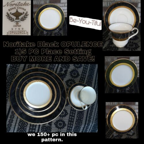 NWOT Noritake OPULENCE 5 Piece Place Setting Dinner Salad Bread Plate Cup Saucer - $53.00