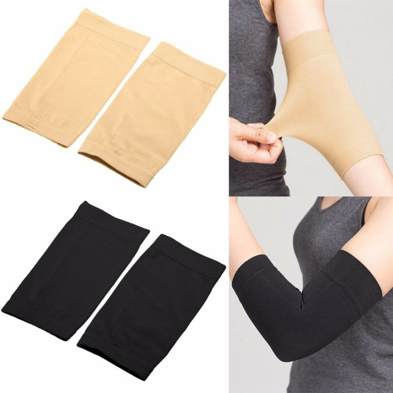 1Pair Black/Skin Tattoo Cover Up Compression Sleeve Forearm