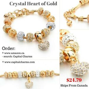 Gold Charm Bracelets by Capital Charms with Free Shipping