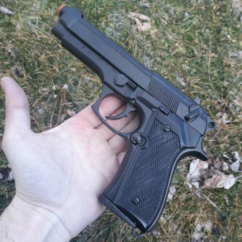 Denix Beretta 9mm Pistol Replica With Simulated Firing Black Metal Construction