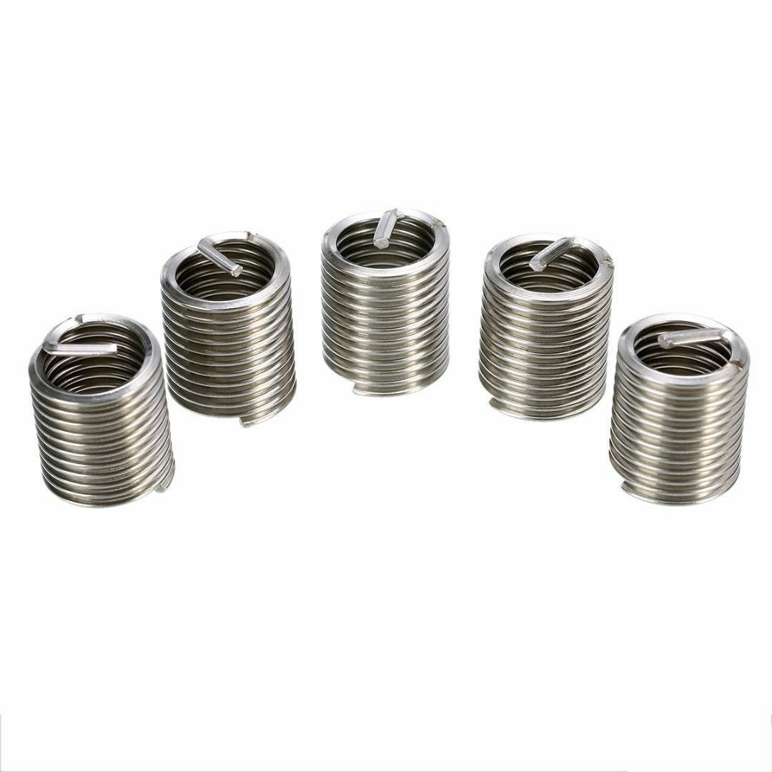 60Pcs Stainless Steel Wire Screw Sleeve Insert Set for Hardware Repairing M3-M12