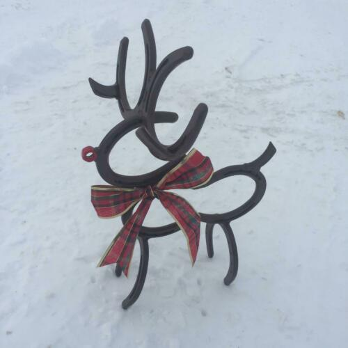 Horseshoe Reindeer Christmas Horse Shoe Reindeer made out of genuine Horse Shoes