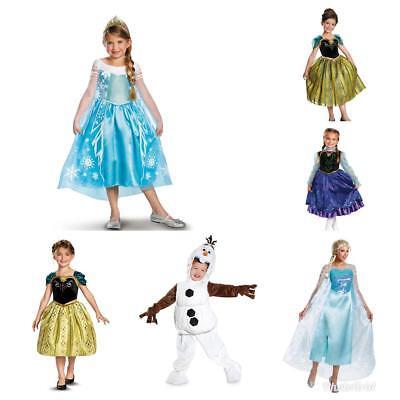 Olaf Disney Costume (Disney Frozen Princess Queen Elsa Olaf Anna Wig Halloween Women Kids Costume)