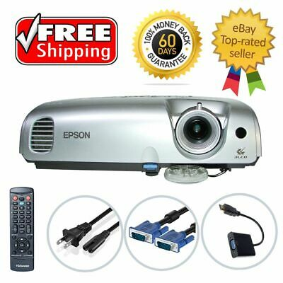 Epson PowerLite S3 LCD Projector (Portable) Refurbished HDMI-adapter w/Remote