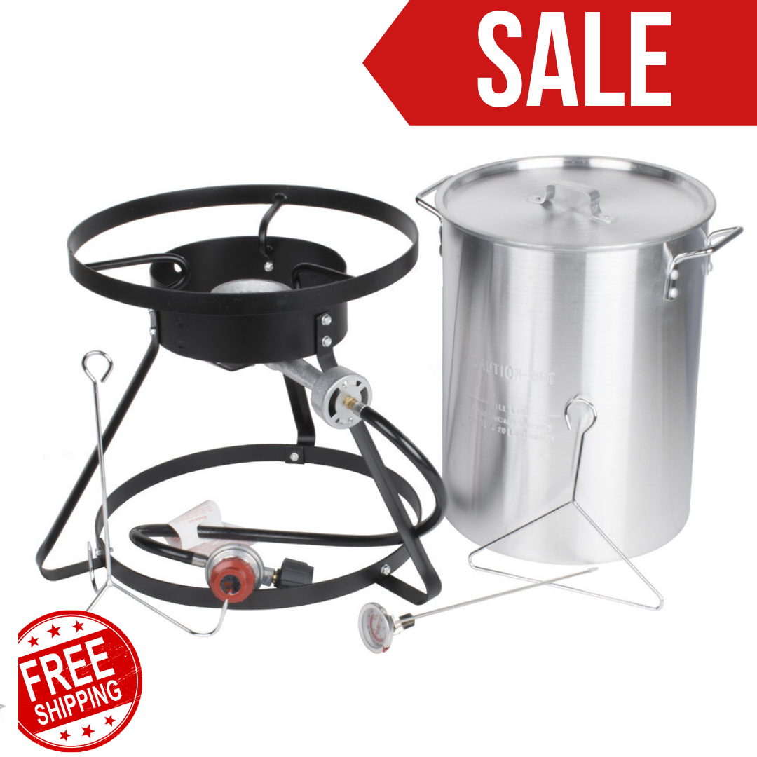 30 Qt Turkey Fryer Kit With Aluminum Stock Pot And Accessori