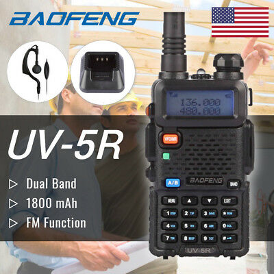 US Baofeng UV-5R Handheld Scanner Analogue Transceiver HAM Antenna Two-Way Radio