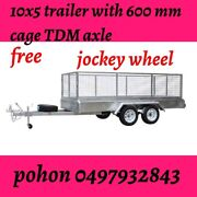 10x5 Tandem Trailer fully Galvanised heavy Duty with Cage 2000gk . Springvale Greater Dandenong Preview