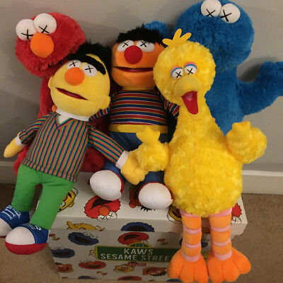 Kaws X Uniqlo X sesame street Cookie monster/Ernie/Elmo/Bird/Bert Plush  - Sesame Street Cookies