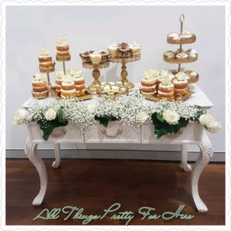 Cake Stands & lollie Jars for hire @All Things Pretty For Hire