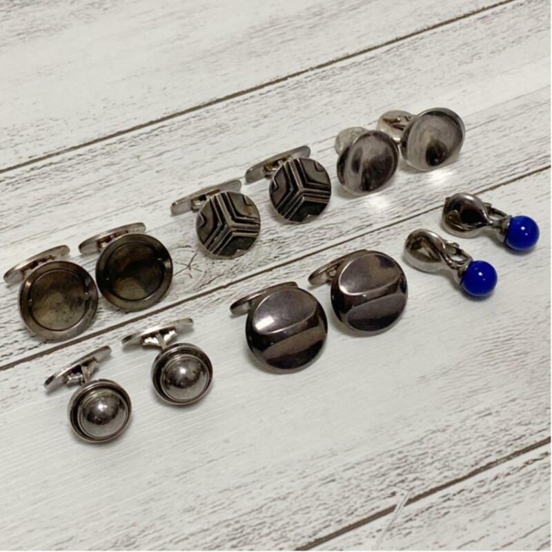 Georg Jensen Cufflinks Sterling Silver Denmark Jewelry #13347