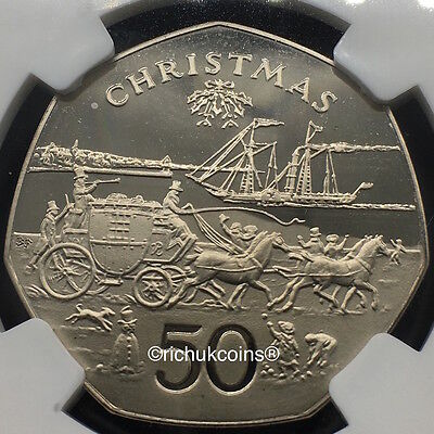 "1980 IOM Xmas 50p MULE Coin ""Stateless"""