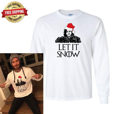- Game of Thrones Jon Snow Let It Snow Christmas T-Shirt, Short & Long Sleeve