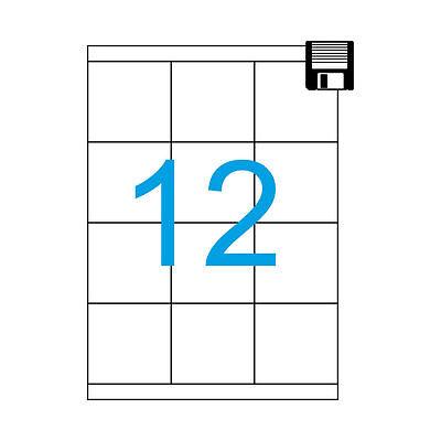 Luma Etiketten 70x67,7 mm Weiss 200 Blatt A4 Format 70 x 67 2400 Aufkleber