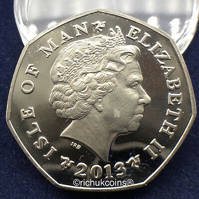 2013 IOM Xmas Colour-printed Diamond Finish 50p Coin