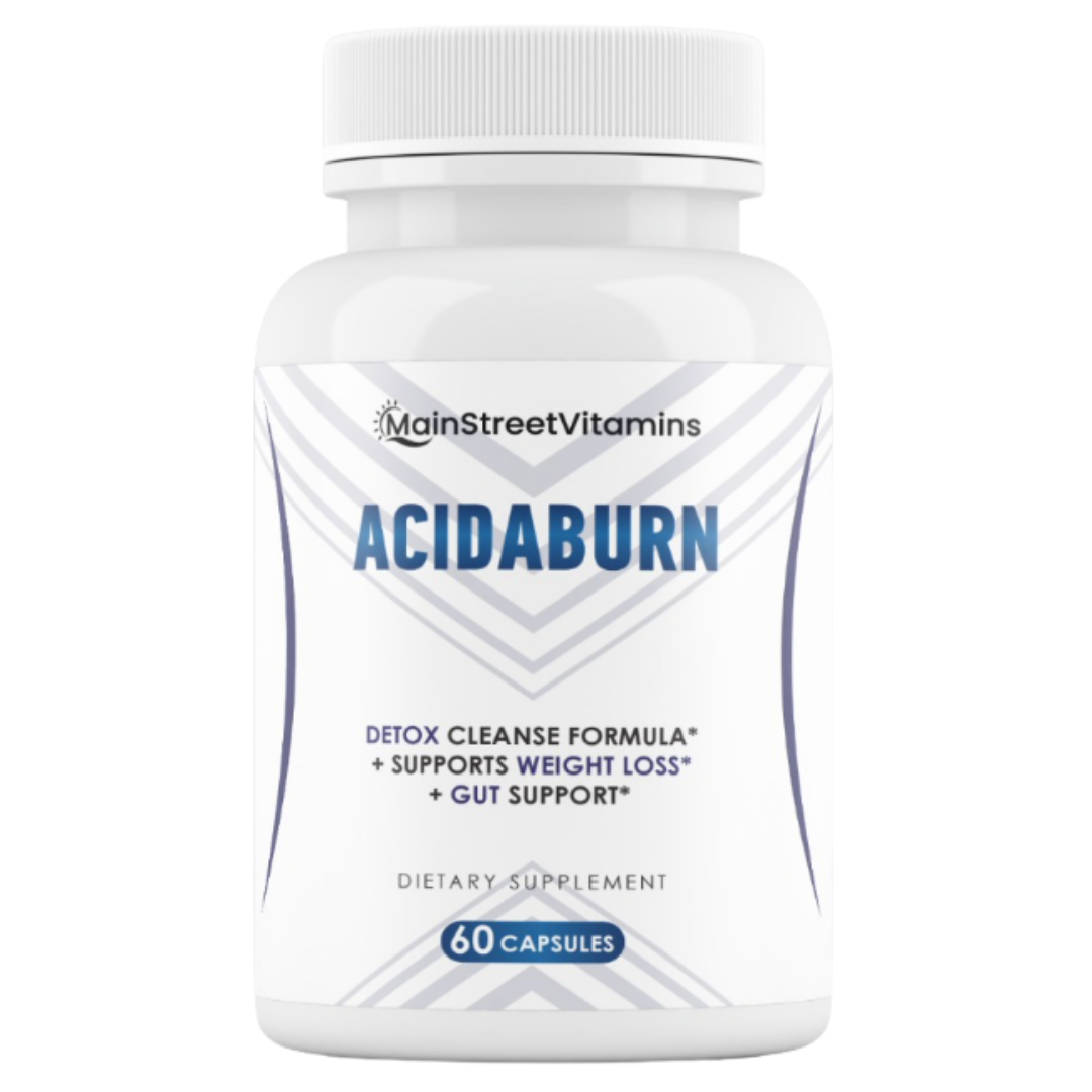 AcidaBurn Detox Cleanse Capsules Supports Weight Loss & Gut Health 60 capsules