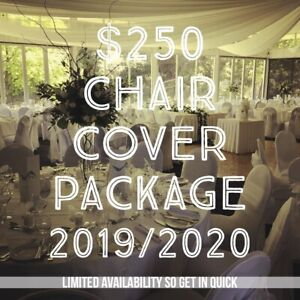 $250 CHAIR COVER AND SASH PACKAGE SPECIAL