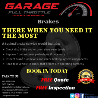 Brake Services - Garage Full Throttle