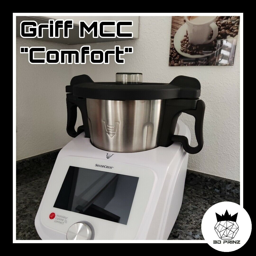 """Fest montierter Griff """"Comfort"""" (3D Prinz) für Monsieur Cuisine Connect """"Lidl"""""""