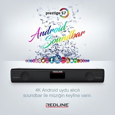 Redline Prestige S7 Smart 4K Home Theater Soundbar/Android TV