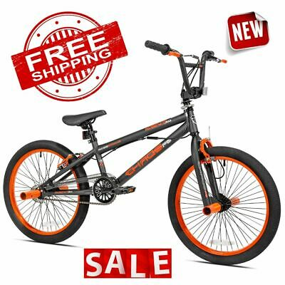 BMX FREESTYLE BIKE 20 Inch Bicycle Frame Wheel Front Rear Pegs Brake 360° Tricks