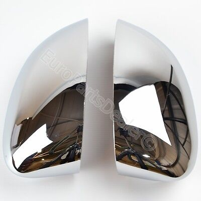 Chrome wing mirror cover caps for Fiat 500  Grande Punto 08 16
