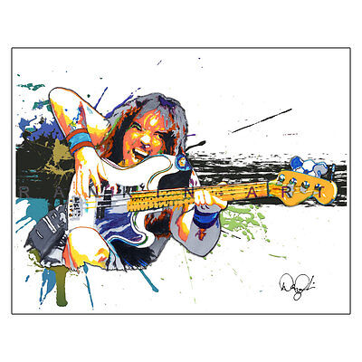 """Steve Harris Iron Maiden Metal Bass Guitar 11x14"""" Music Art Print Poster"""