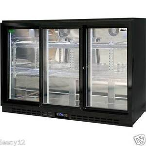 Sliding 3 Door Glass BAR Fridge Commercial Rhino Energy Efficient
