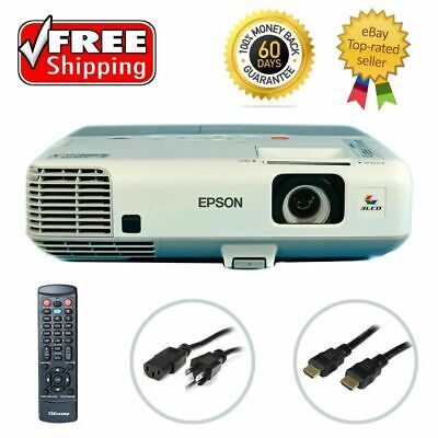 Epson PowerLite 905 3LCD Projector 3000 ANSI HDMI HD 1080i w/Accessories